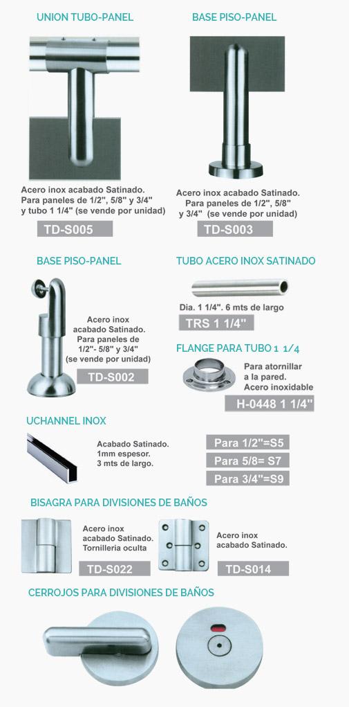Puertas De Baño Publico:divisiones para baños públicos características herrajes para hacer