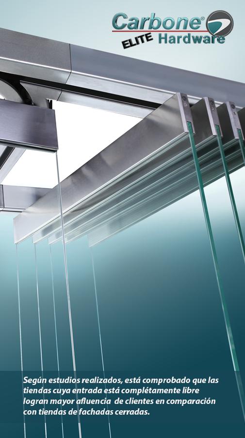 elite hardware para vidrio templado