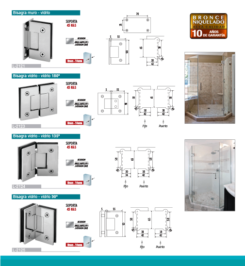 Bathroom Hinges and Connectors