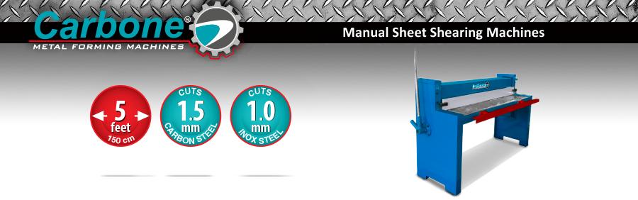 Manual Sheet Shearing Machines