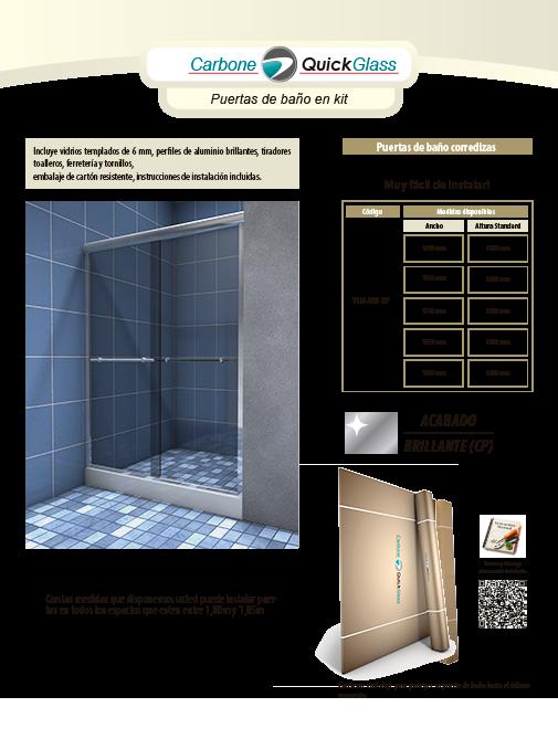 empresas carbone - kit de puertas de baño ylm en panamá - vidrios ... - Perfiles De Aluminio Para Puertas De Bano