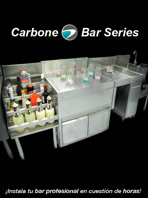 Muebles de acero inoxidable para bar
