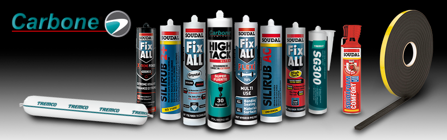 Construction Adhesives, Neutral, Structural, Acrylic Silicones and Glazing Tapes