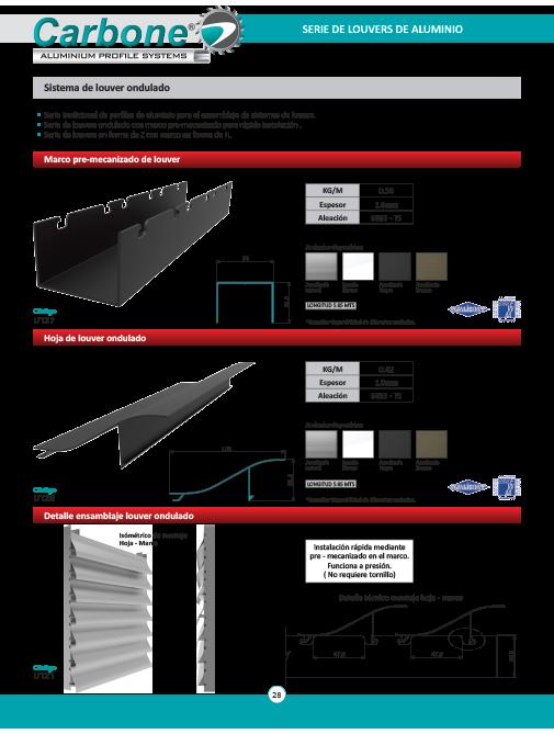 Sistema de Louvers de Aluminio