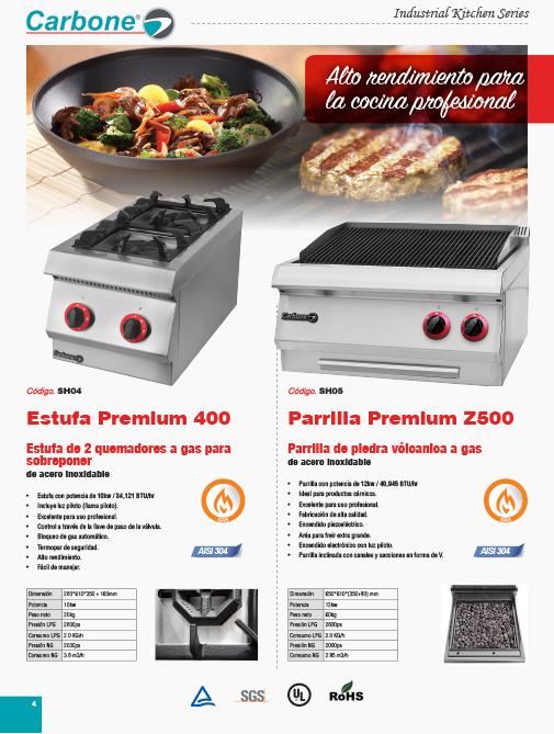 Estufas Profesionales para Cocina Industrial
