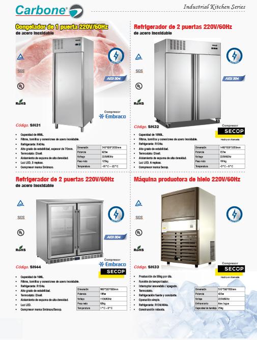 Refrigeradores y Congeladores Industriales