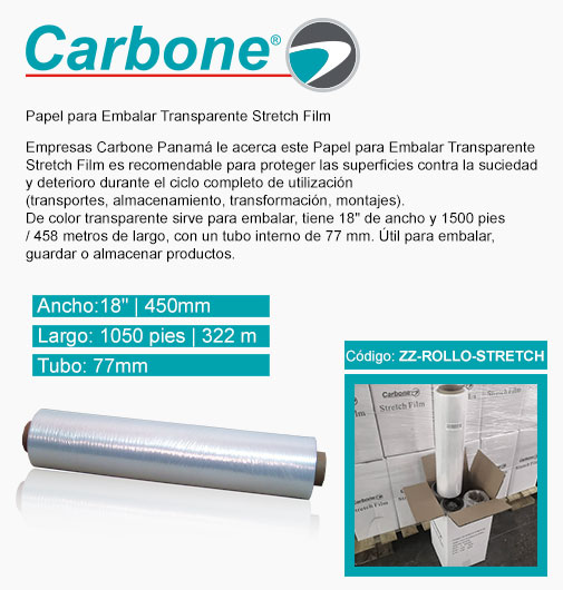 Papel para Embalar Transparente Stretch Film